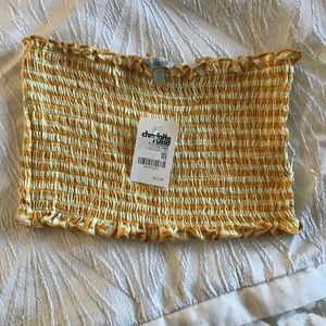CHARLOTTE RUSSE yellow tube top